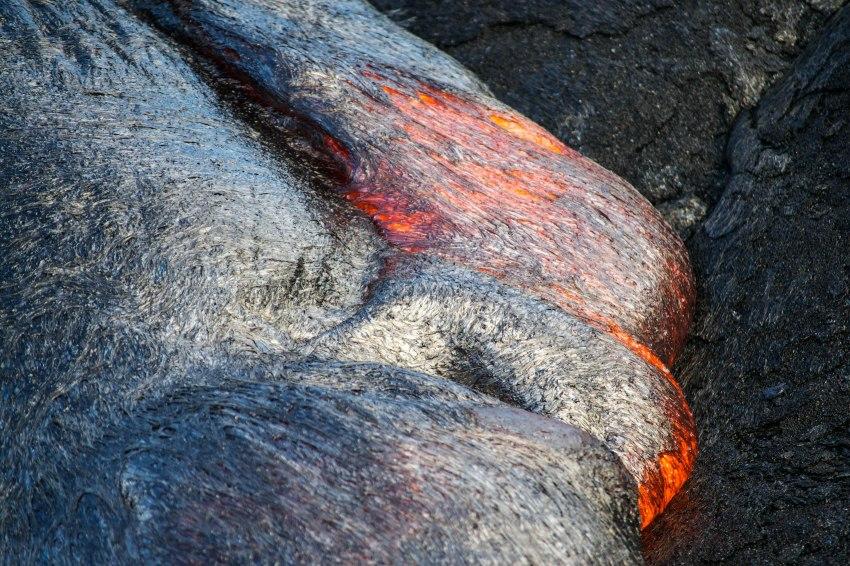 Bubbling Live Lava, Big Island