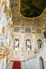 Entrance...I can just imagine a Queen walking down the red carpeted staircase!