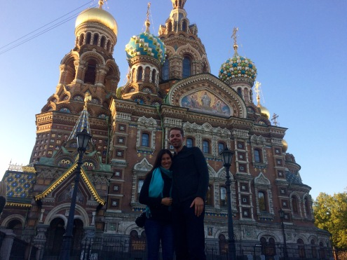 Sasha & Me in front of the Church on Spilled Blood