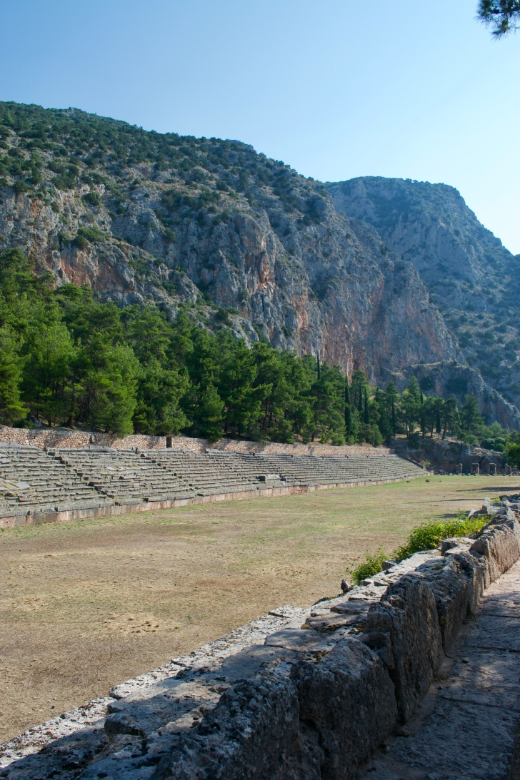 The track and sports arena where people from all over Greece would come to compete in games. This was second only to the Olympic games!