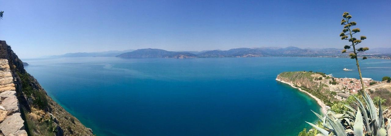 Palamidi Fortress Sea Pano