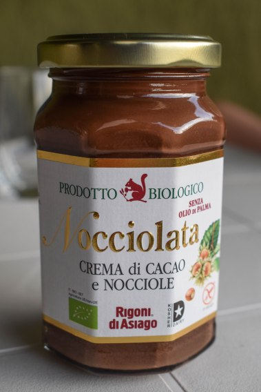 "THIS is the REAL ""Nutella"". In Europe, the term ""biological"" means organic/natural. This is a local product made with chocolate and hazelnuts NOT using palm oil. I implore you, PLEASE DO NOT BUY NUTELLA, as you will be supporting the deforestation (especially of orangutans) and animal cruelty, not to mention processed palm oil is not good for your health. You can read more about palm oil here: http://www.saynotopalmoil.com/Whats_the_issue.php"
